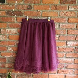 Charlotte Russe Burgundy Skirt 1X NTW